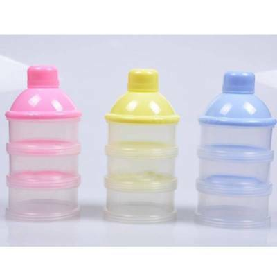 Baby Infant Portable Feeding Milk Powder & Food Bottle Container 3 Cells Grid