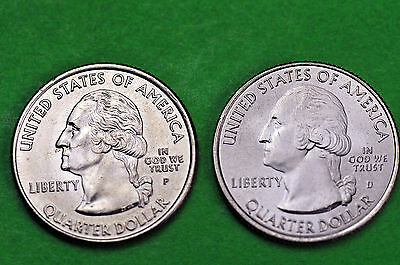 2010-P&D  BU Mint State(YELLOWSTONE) US National Park Quarters (2coins)