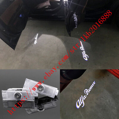 LED Door Projector Courtesy Puddle Logo Lights For Alfa Romeo Stelvio Giulietta