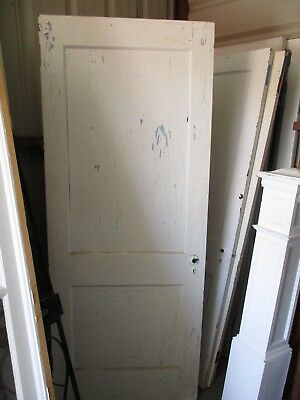 ANTIQUE VINTAGE 2 PANEL INTERIOR DOOR  APPROX 32 x 79 approx PAINTED BOTH SIDES