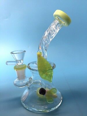 6.5 inches Green Bee Glass Bong smoking Pipes Glass Pipes water Bongs hookahs