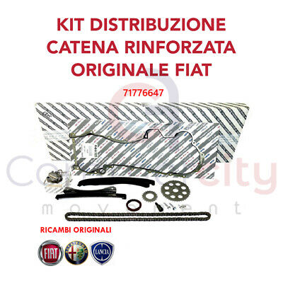 Kit Catena Distribuzione 13 Pz. Fiat 1.3 Multijet Punto Panda Originale 71776647