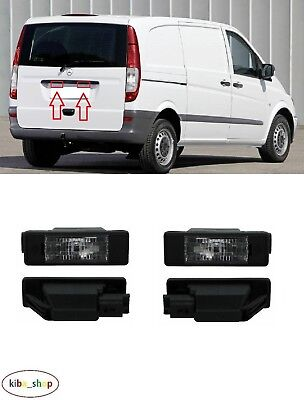 Mercedes Viano/Vito W639 2003 - 2010 2X New Rear Number Plate Lights Pair L + R