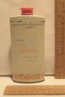 AVON - To a Wild Rose - PERFUMED TALC - vintage - TIN with plastic lid