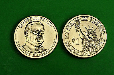 2012-P&D BU Mint State(Grover Cleveland 22nd)US Presidential Dollars (2 Coins)