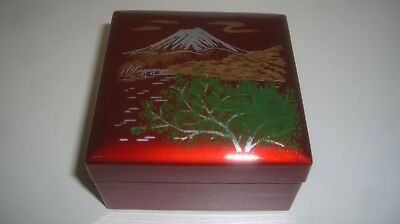 Asian Style Square Coasters - Set of 4 with Lacquer Box (Brand New)