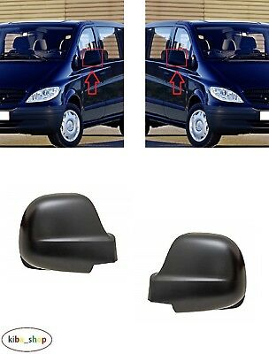 MERCEDES VIANO//VITO W639 2010-2014 2X NEW WING MIRROR COVER CAPS L R PRIMED