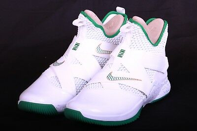 sports shoes 005fe f9cca Nike Mens Lebron Soldier XII 12 SVSM Home White Green Gold AO2609 100 Size  13