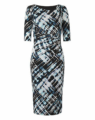Womens Floral Side Tuck Dress