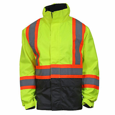 Helly Hansen Class 3 Reflective Bomber Safety Jacket, Yellow/Lime