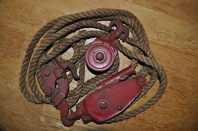 Vintage Durbin Durco Inc. 25A block and tackle St. Louis.