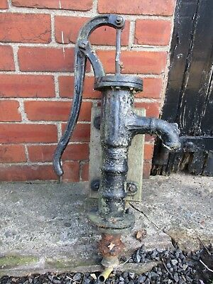 Vintage genuine antique cast iron well pump