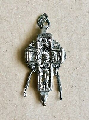 Byzantine Style Silver Reliquary Cross (Post-Medieval).a Marvelous Piece Of Art