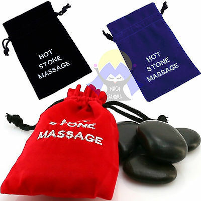 PIETRE per MASSAGGIO Kit HOT STONE Set da BENESSERE Relax SPA Caldo CASA Therapy
