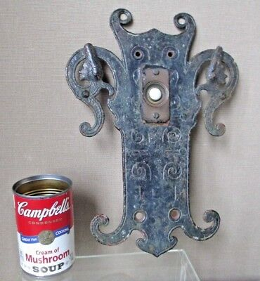 rare ARTS and CRAFTS iron work DOOR BELL mission LARGE SIZE