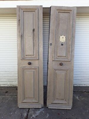 Pair reclaimed doors French chateaux style