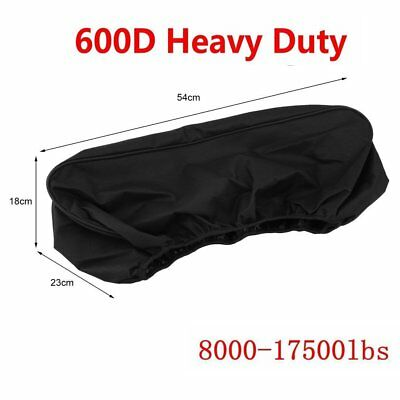 Waterproof Soft Winch Dust Cover Driver Recovery 8,000~17,500 lbs capacity BLK D