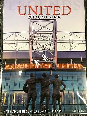 Manchester United Official 2019 A3 Wall Calendar Man Utd