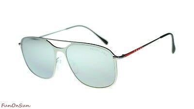 a3f7e87d8c83 Prada Men PS53TS 7CQ2F2 Matte Gunmetal Polar Grey Mirror Silver Polarized  Lens