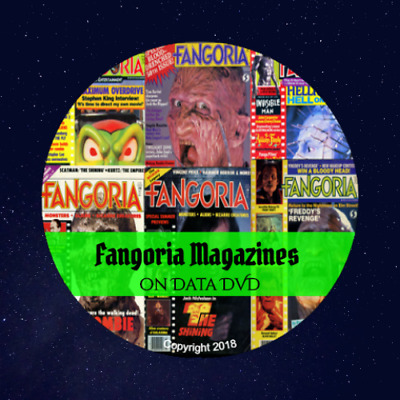 Fangoria Magazine Lot - 319 Digital PDF Horror & Monsters Magazines on 2 DVD's