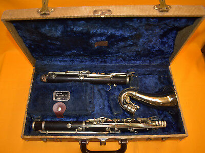 Vintage Maison A Robert Alto Clarinet made in Paris France in Original Case