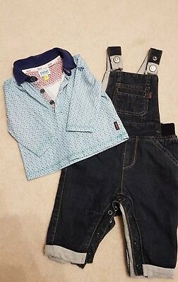 Clothing, Shoes & Accessories Latest Collection Of Boys Ted Baker Short Dungaree 6-9months Bottoms