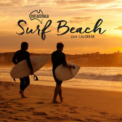 Our Australia Surf Beach 2019 Wall Calendar by Paper Pocket, Free Post (NEW)