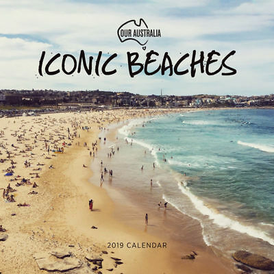 Our Australia Iconic Beaches 2019 Wall Calendar by Paper Pocket, Free Post (NEW)