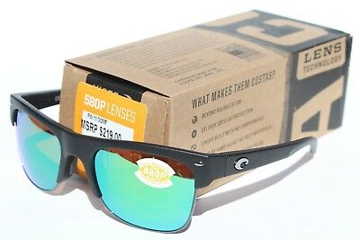 580f7e1d33c COSTA DEL MAR Pawleys POLARIZED Sunglasses Matte Black Green Mir 580P NEW   219