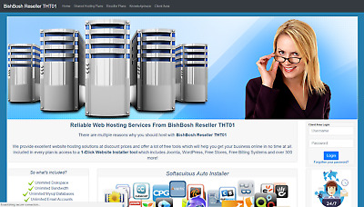 Become a Webhosting Reseller Responsive Layout THT01 Automated Billing System