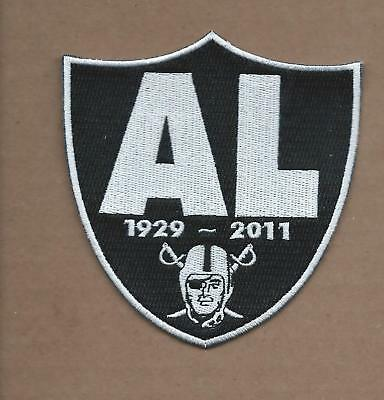 "New 3 3/4 X 4"" Al Davis Raiders Memorial Shield Iron On Patch Free Shipping"