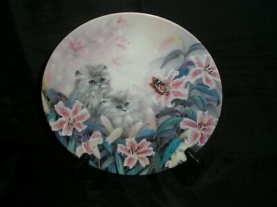 "Flowering Fascination by Lily Chang ""Petal Pals"" Cat Kitten Collector Plate"