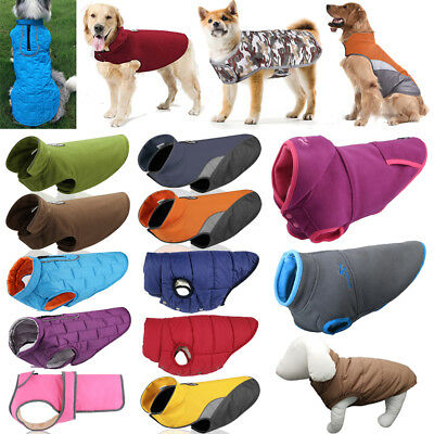 Pet Dog Clothes Winter Warm Padded Fleece Coat Vest Jacket Hoodie Small/Large