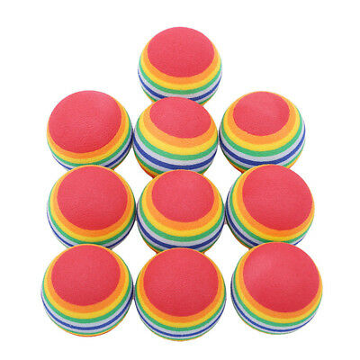 10pcs Mini Dog Ball Toys For Pets Dogs Rainbow Chew Bite Balls Pet Chewing Toy G