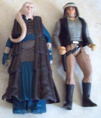 Rare Vintage 1983 and 1997 Star Wars Lot of 2 Action Figures ROTJ Bib Fortuna +