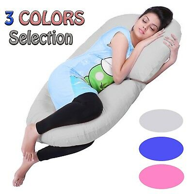 9Ft Maternity/ Pregnancy Support Cotton Comfort C-Shape Pillow / Case Feeding Uk