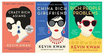 CRAZY RICH ASIANS TRILOGY Humor Series by Kevin Kwan LARGE TRADE PAPERBACKS 1-3