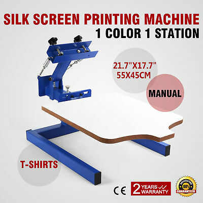1 Color 1 Station Silk Screen Printing Machine Printer Print Glass WELL MADE