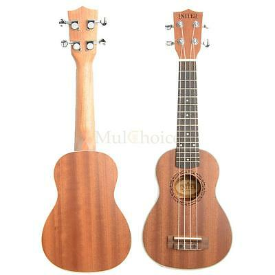 "New 21"" 15 Frets Exquisite Sapele Mini Soprano Ukulele Uke 4 Strings Guitar"