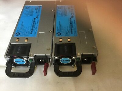 Lot of 2 HP 460W DL360 DL380 G6 G7 511777-001 HSTNS-PL14 499250-201 POWER SUPPLY