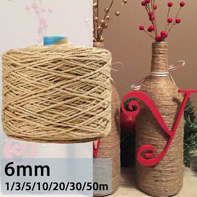6mm Jute Rope Twine Rope Natural Hemp Cord Interior Decor Decking Pet Scratching