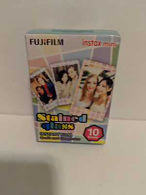 Fujifilm Instax Mini Stained Glass Color Film for Instax Mini Cameras, 10 Sheets