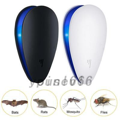UK Electronic Ultrasonic Anti Pest Bug Mosquito Cockroach Mouse Killer Repeller