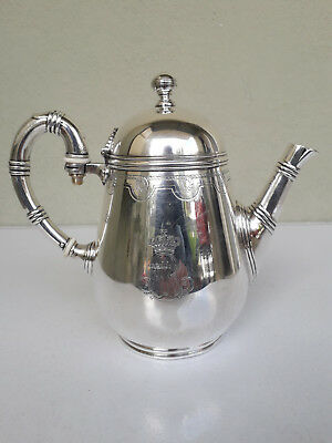 Antique  Austria-Hungary . silvering , Beautiful Large Serving coffee pot