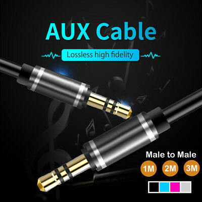 Quality 1/2/ 3m 3.5mm Male to Male AUX Stereo Audio Cable Speaker Auxiliary Cord