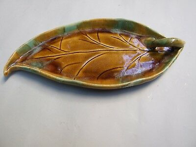 Vintage Australian Pottery  Large Gumleave Pencil Tray 1930's Signed