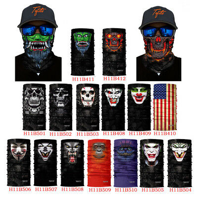 Skull Animal Face Mask Mask Headwear Neck Tube Scarf Bike Hiking Breathable