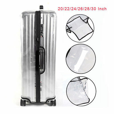 Clear PVC Plastic Waterproof  Luggage Cover Suitcase Protector Covers 20-30 inch