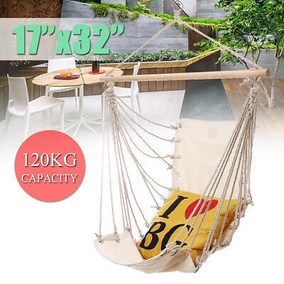 Outdoor Camping Frame Deluxe Hanging Hammock Chair Swing Includes Soft Cushions