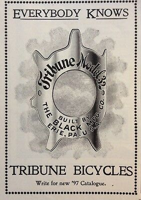 1897 Ad(1800-35)~The Black Mfg. Co. Erie, Pa. Tribune Model 32 Bicycle